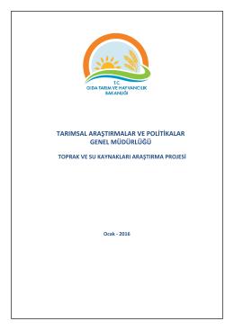 tarımsal araştırmalar ve politikalar genel müdürlüğü