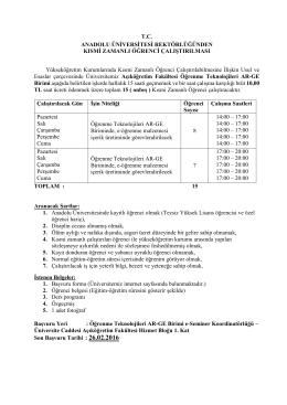 Açıköğretim Fakültesi AR-GE Birimi