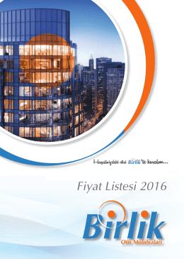 Fiyat Listesi 2016 - Birlik Büro Mobilyaları