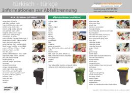 türkisch ∙ türkçe - Abfallwirtschaftsbetrieb des Landkreises Rastatt