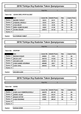 takımlar - Türkiye Briç Federasyonu