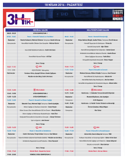 cizelge yeni - 13. Uluslararası Türkiye Hemofili Kongresi