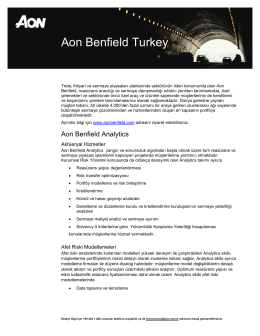 Aon Benfield Turkey