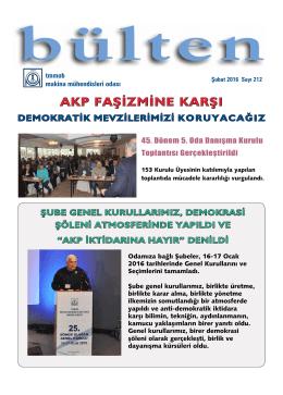 AKP FAŞİZMİNE KARŞI - Makina Mühendisleri Odası
