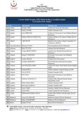 Katılımcı Listesi - TİG