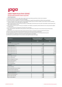 2016 Logo Tiger Plus Fiyat Listesi için tıklayınız
