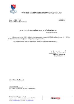 türkiye eskrim federasyonu başkanlığı