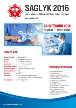 saglyk 2016 - turkmen health