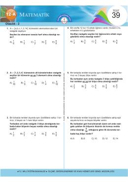 Olasılık - 2 - Ölçme, Değerlendirme ve Sınav Hizmetleri Genel