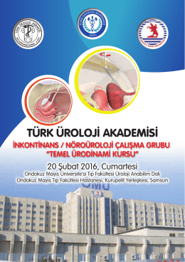 temel ürodinami kursu - Türk Üroloji Derneği