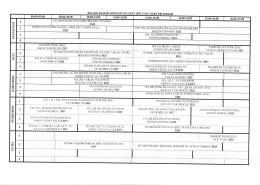 2015-2016 Bahar Dönemi Ders Programı
