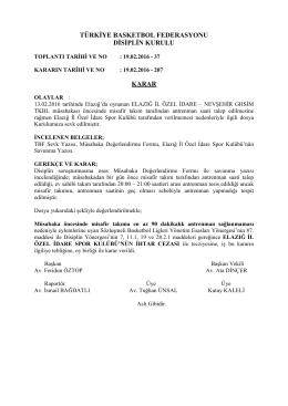 karar 207 elazığ il özel idare – nevşehir ghsim tkbl
