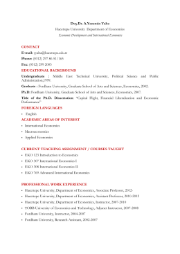 CV - Hacettepe Üniversitesi