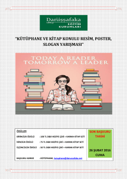 Kütüphane – DEK Yarışma Afişi [2016