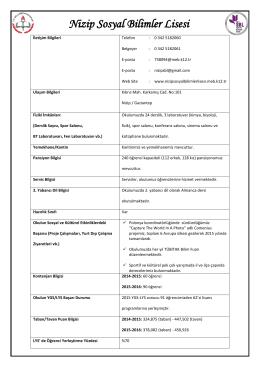 Okul Bilgi Formu 2016-02-19 15:16:00
