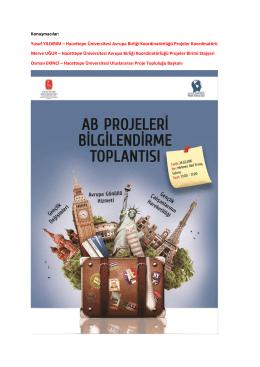 Konuşmacılar - Hacettepe Üniversitesi Avrupa Birliği Ofisi