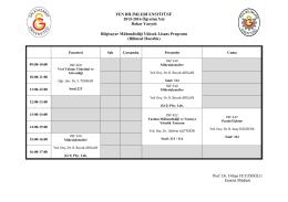 Bilgisayar Mühendisliği Yüksek Lisans Programı