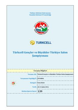 Türkcell Gençler ve Büyükler Türkiye Salon Şampiyonası