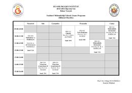 Endüstri Mühendisliği Yüksek Lisans Programı
