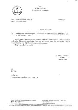 TC. - Kilis Milli Eğitim Müdürlüğü