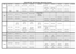 FİZİK BÖLÜMÜ 2015-2016 Bahar Dönemi Ders Programı
