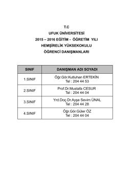 buradan - Ufuk Üniversitesi