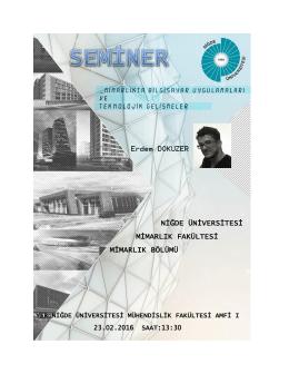 niğde üniversitesi mimarlık fakültesi mimarlık bölümü