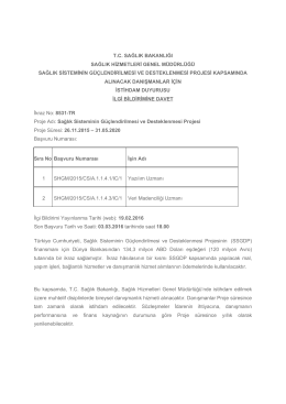 SHGM - Sağlık Bakanlığı