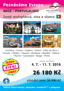 AKCE FIRST CK IDEAL - TOUR Praha, s.r.o. k 15.2.2016