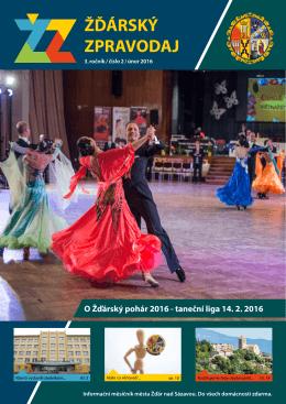 O Žďárský pohár 2016 - taneční liga 14. 2. 2016
