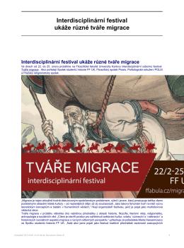 Interdisciplinární festival ukáže různé tváře migrace