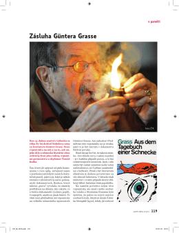Tomáš Kafka: Zásluha Güntera Grasse
