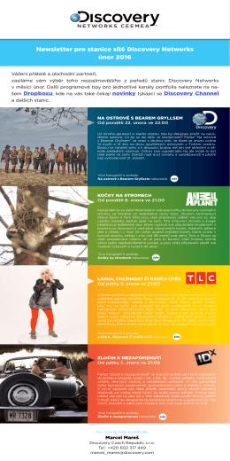 Newsletter pro stanice sítě Discovery Networks únor 2016
