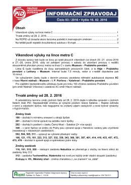 Informační zpravodaj PID č. 3/2016
