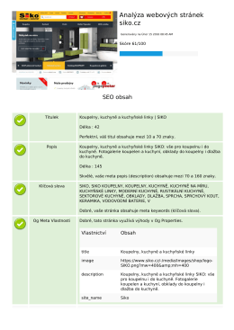 Ke stažení PDF verze - SEO webmaster tools