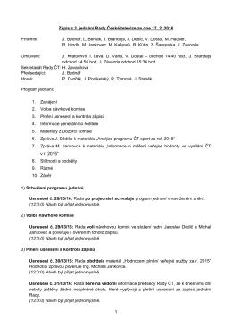 Zápis z 3. jednání RČT (17. 2. 2016)