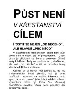 v křesťanství - Pastorace.cz