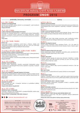 program únor 2016 - Muzeum města Ústí nad Labem