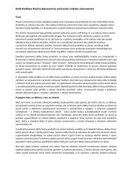 Draft-AmCham Poziční dokument ke směřování českého