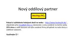 Hockey24 - oddílový partner.. více