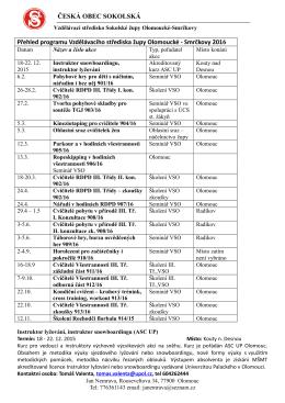 Návrh programu pro rok 2010 první pololetí