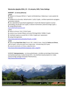 Wycieczka alpejska 2016, 19 – 21.sierpnia, W45, Totes Gebirge