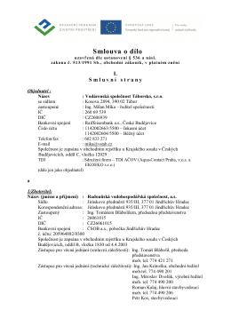 SoD RVS - Komplet PDF - Vodárenská společnost Táborsko s.r.o.