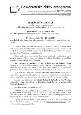 jaro/podzim 2016 - Českobratrská církev evangelická