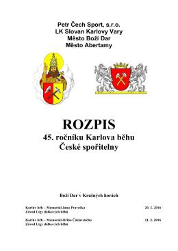 Propozice závodu 20.2. – 21.2. 2016