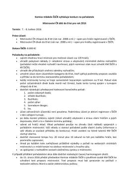Konkurz na otevřené Mistrovství ČR dětí 2011 do 8 let