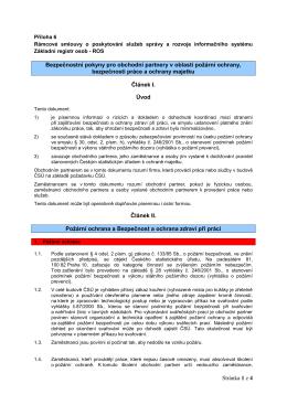 Příloha č.6 ke smlouve