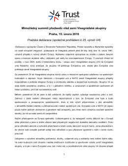 Declaration on Cooperation between the Czech and Slovak Federal