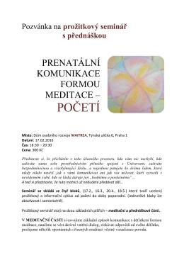 Prenatální komunikace formou meditace 17