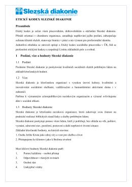 etický kodex slezské diakonie